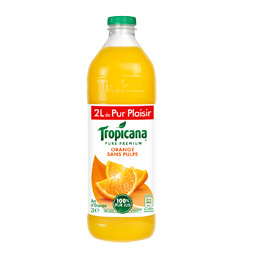 Jus d'orange Tropicana sans pulpe - 1l